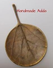 Brass Teak Round Leaf Cast