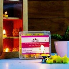 Natural and Handmade Pure Ghee Insta Diya with Rose Essential Oil - 30 Nos. with 1 free Steel Diya