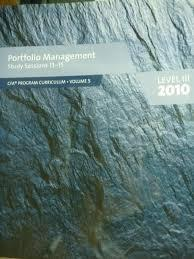 Portfolio Management Study Sessions 13-15