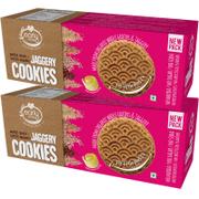 Organic Multi-grain / Sattu Mavu Jaggery Cookies 150 gms (Pack of 2)