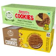 Organic Dry Fruit & Ragi Choco Jaggery Cookies (Assorted Pack of 2)