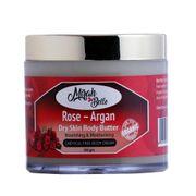 Rose & Argan Body Butter for Dry Skin - 100 gm
