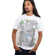 White Forest Printed Men's T-shirt