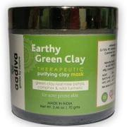 Earthy Green Clay Mask with Rose Petals, Camphor & Turmeric - 70 gms
