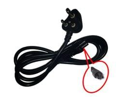 Hp Compaq Adapter Charger Power Cord 3 Pin Indian Plug 1.5 Cable