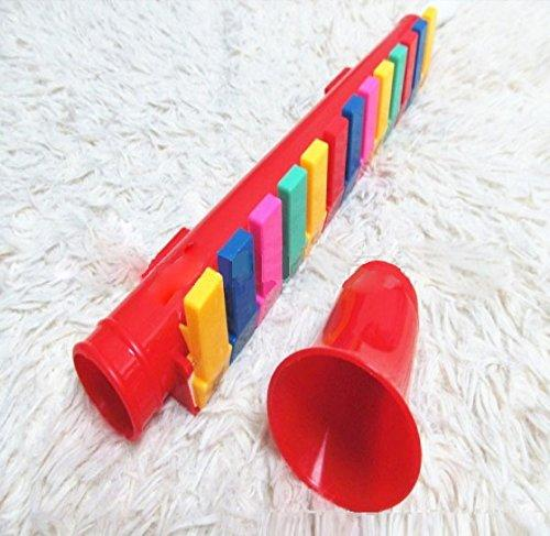 13 Color-Coded Keys Pipe Melodica Musical Mouth Organ - Music Toys for Kids and Children
