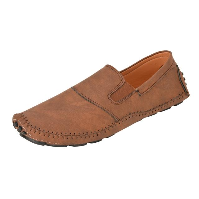 Gillie Men's Fashion Loafer shoes (Brown)