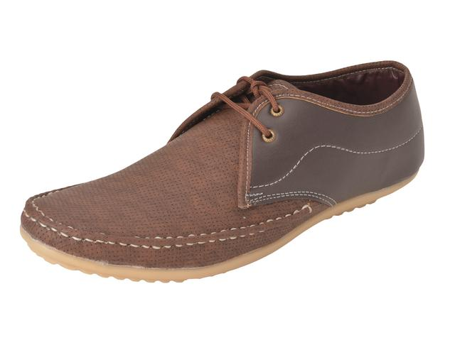Gillie Men's Stylish Casual shoes (Dark Brown)