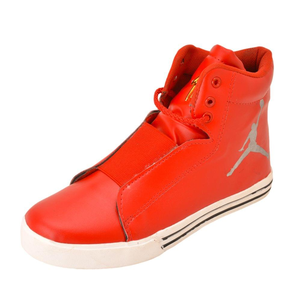 Gillie Men's Ankle Casual Shoes (Red)