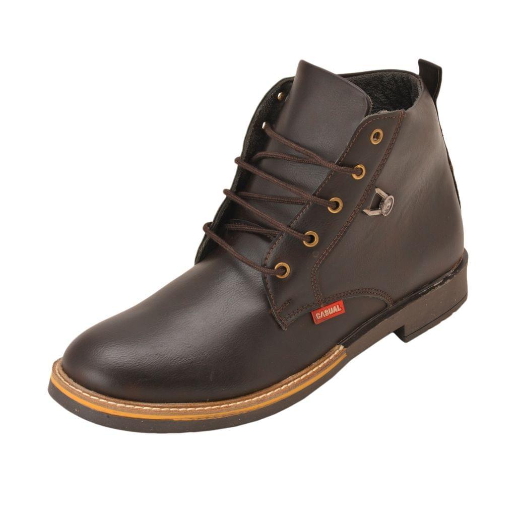 Gillie Men's Ankle Boots (Dark Brown)