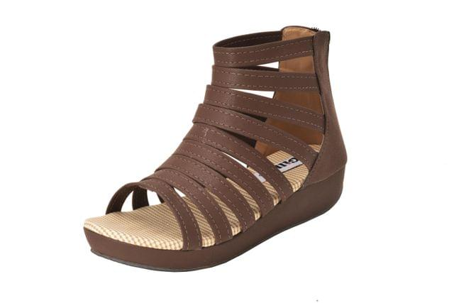 Gillie Women's Gladiators Sandels (Brown)