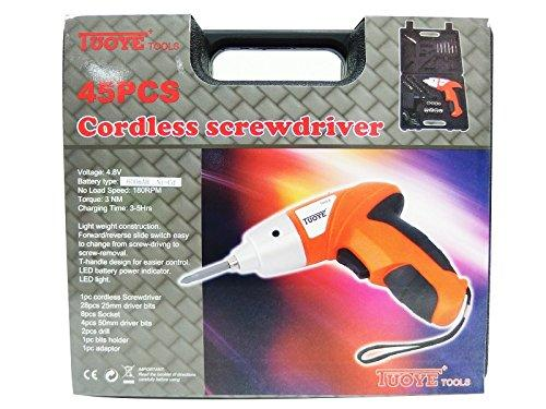 Touye 45pcs Cordless Screwdriver set