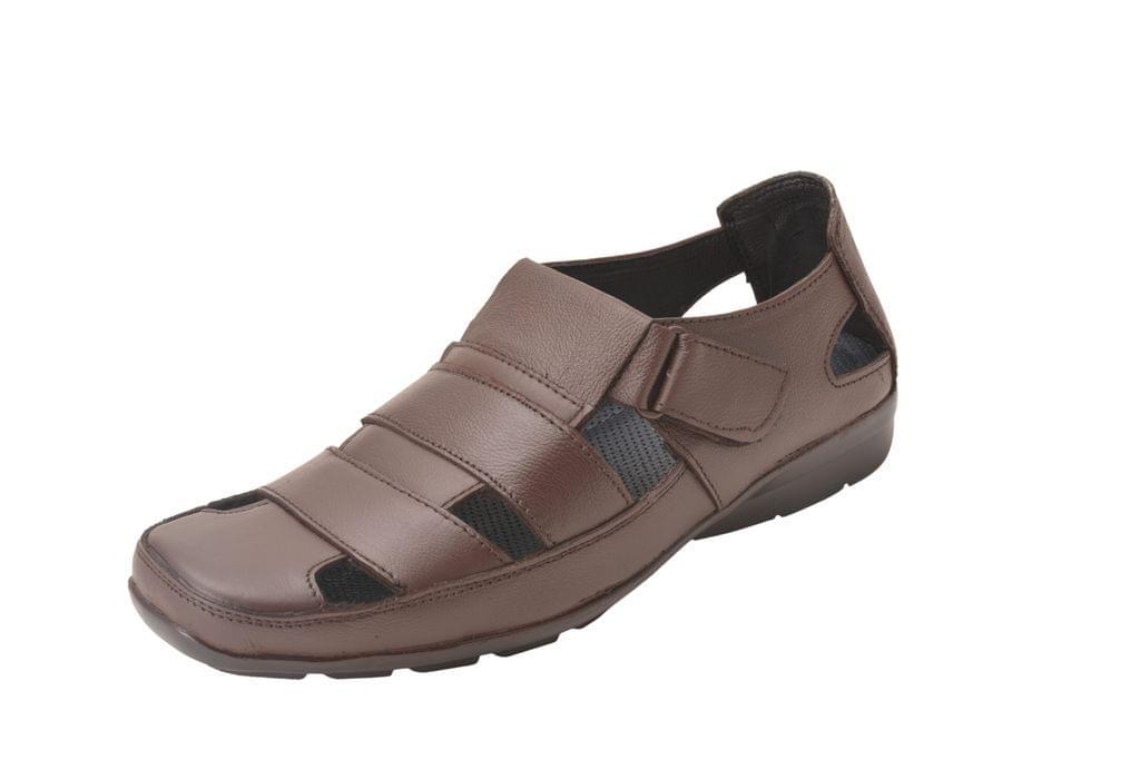 Gillie Men's Leather Sandals (Brown)
