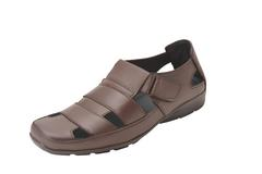 Gillie Men's Leather Sandals (Brown)