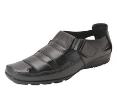 Gillie Men's Leather Sandals (BLACK)