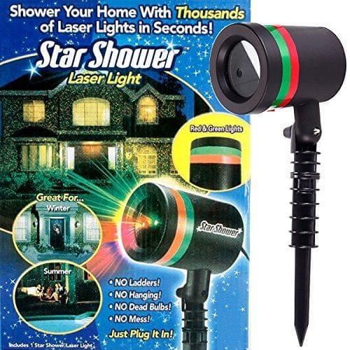 Star Shower Laser Light - Black