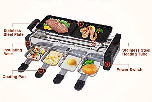 BBQ_BIG_001 1500-Watt Electric Smokeless Grill and Tandoor Barbecue (Silver/Black)