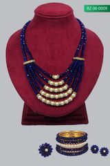 Handcrafted Crystal Necklace with Pearl (Set) (BZ-06-0009)