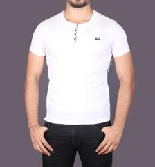 White Color Half T-Shirt for Men