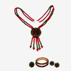 Handcrafted Crystal Necklace Set (BZ-01-0028)
