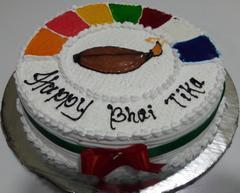 Tihar Special White Forest Cake (1 Kg)