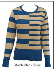 Stripped Round Neck Sweater (LL-16-06)