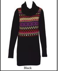 High Neck Fairsle Dress (LL-16-08)