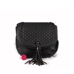 Ladies Side Black Bag with Magnetic Lock