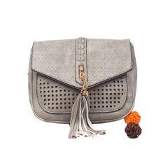 Ladies Grey Side Bag With Magnetic Lock