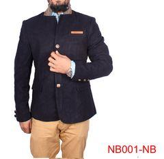 Navy Blue Casual Blazer For Men