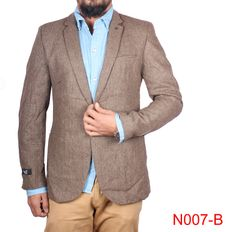 Brown Casual Blazer For Men