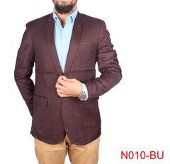 Burgundy Color Casual Blazer For Men