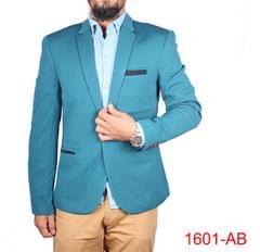 Aqua Blue Casual Blazer For Men