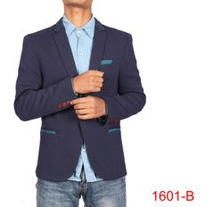 Blue Casual Blazer For Men