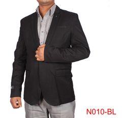 Black Casual Blazer For Men
