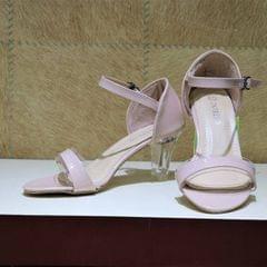 Pink Strap High Heels For Women