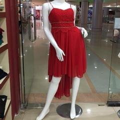 Melange Red String Dress For Women