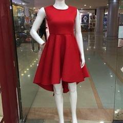 Melange Red Flare Skirt For Women