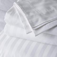 Single Bedsheet,  satin Stripe 210 T/C