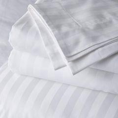 Single Bedsheet,  satin Stripe 250 T/C