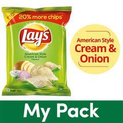 Potato Chips - American Style Cream & Onion Flavour,25 gm