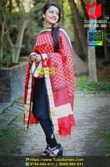 Zari Border Bishnupuri Silk Dupatta