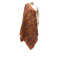 Rust Orange Multicolor Chanderi Dupatta