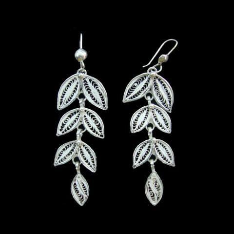 Grapewine Silver Filigree Earrings