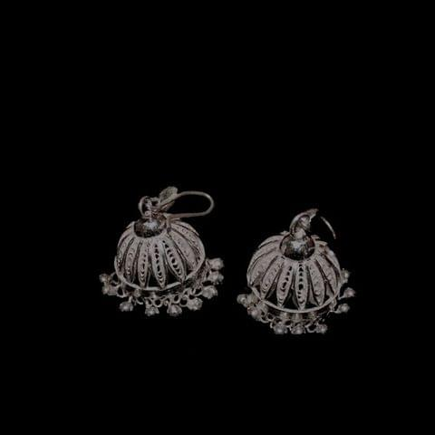 Traditional Silver Filigree Jhumki