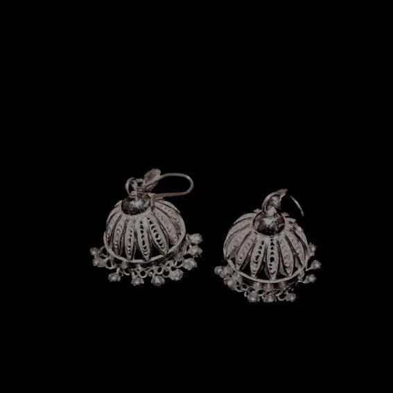 Traditional Silver Filigree Jhumki