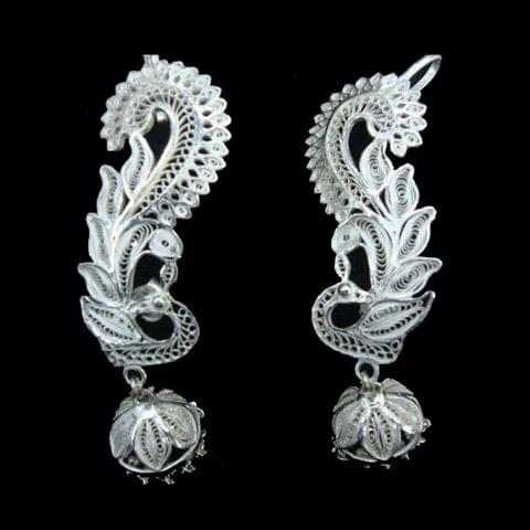 Kaanphool Silver Filigree Earrings