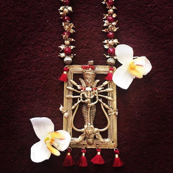 Dhokra Maa Durga Neckpiece