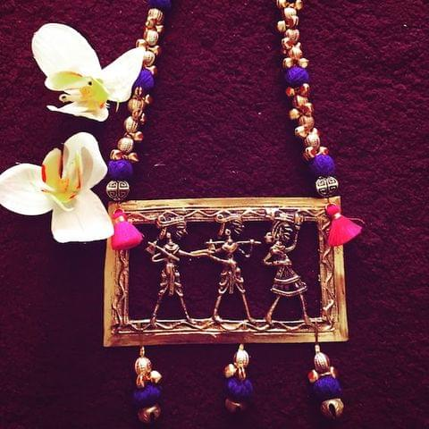 Dhokra Men at Work Neckpiece