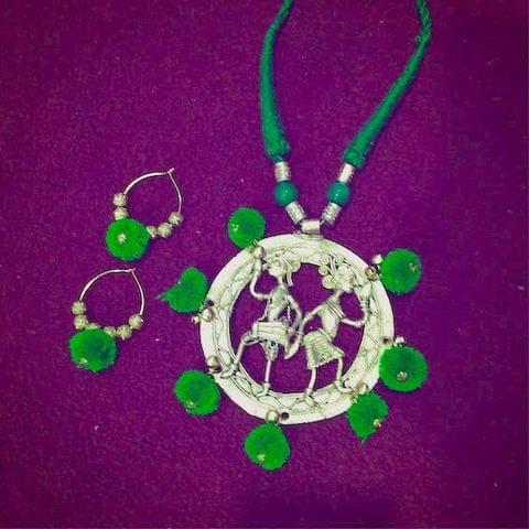 Dhokra Celebration Neckpiece & Earrings